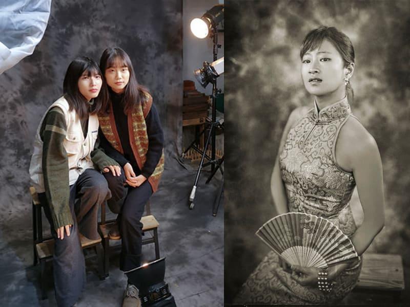 閨蜜婚紗攝影體驗推薦 英華攝影藝術工坊 濕版拍攝